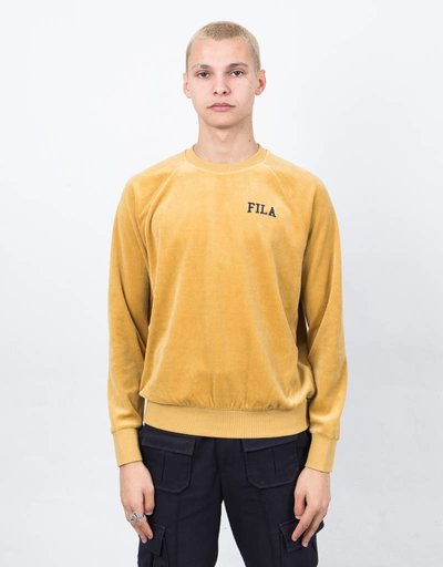 Fila LA Sweat Shirt Velour Mustard