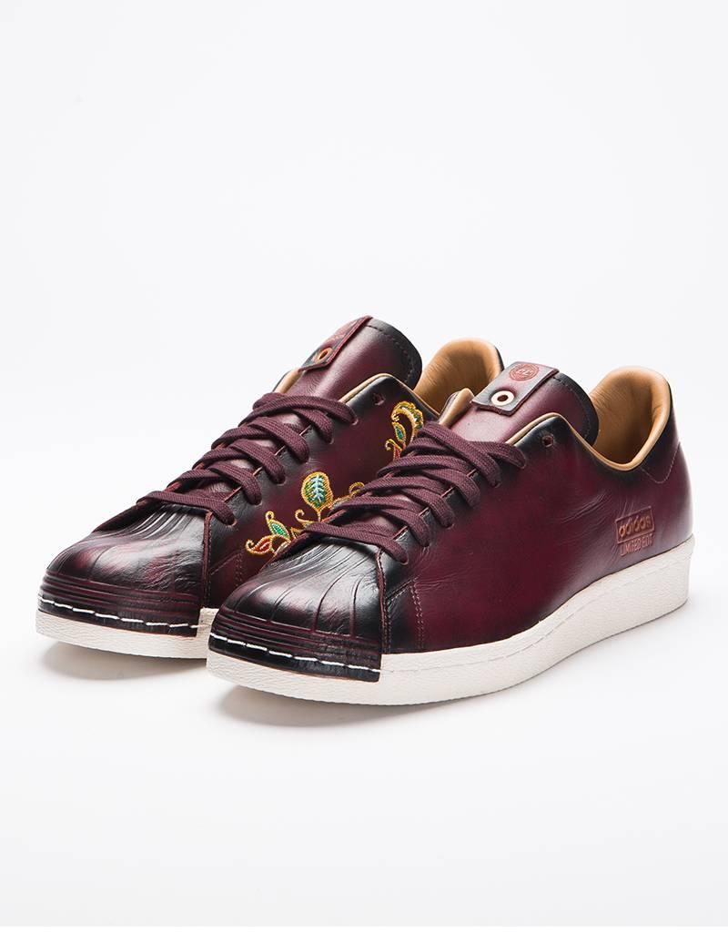 Adidas Consortium Superstar 80s Le Vault Dark Burgundy/Dark Burgundy