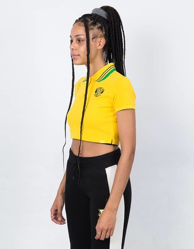 Puma Fenty Cropped Polo Lemon