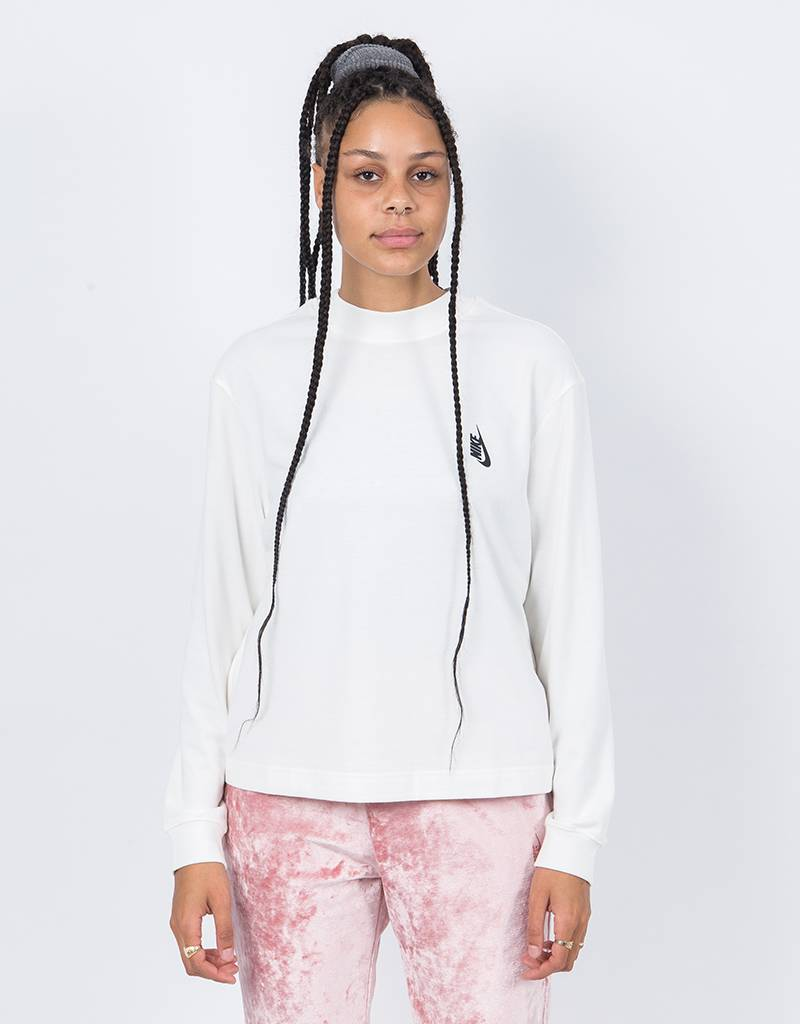 NikeLab Womens Ess Ls Mock Neck Sail/Black