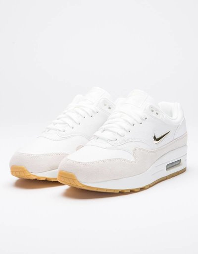 Nike Womens Air Max 1 Premium SC Summit White/Metallic Gold Star-Light Bone
