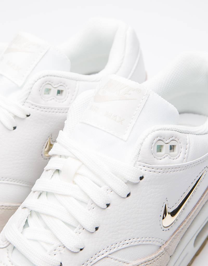 Nike Womens Air Max 1 Premium SC Summit White/Metallic Gold Star-Light Bone