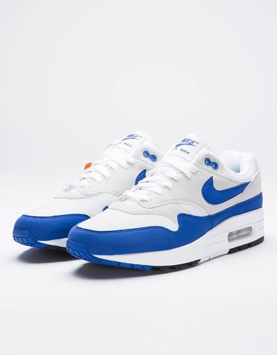 Nike Air Max 1 Anniversary White/Game Royal-Neutral Grey-Black