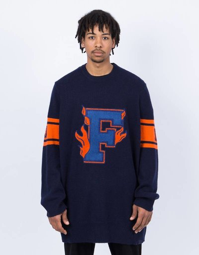 Puma Fenty Varsity Letter Sweater Evening Blue