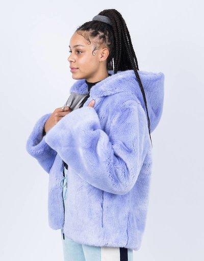 Puma Fenty Faux Fur Hooded Jacket Easter Egg
