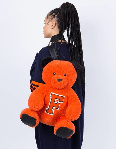Puma Fenty Mascot Bear Backpack Sherpa/Flame Black