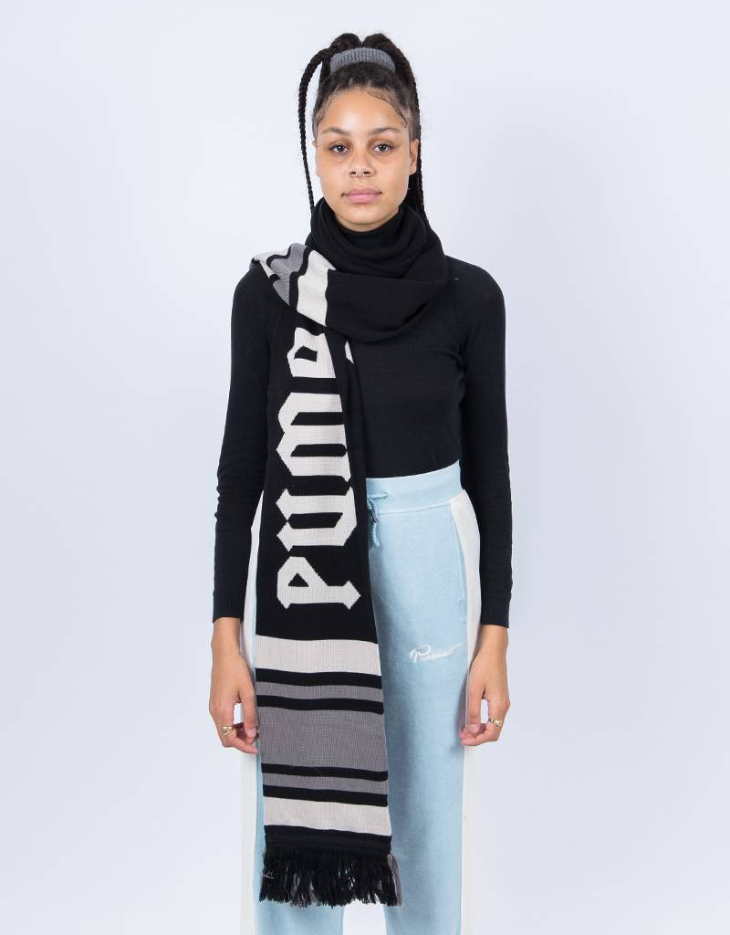 Puma Fenty Long Varsity Scarf Black-Dove-Steel Gray