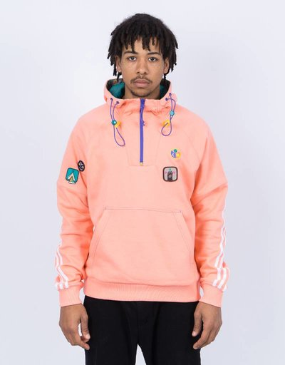 Adidas Pharrell Williams HU Hiking Hooded Sweatshirt Sun Glow/EQT Green