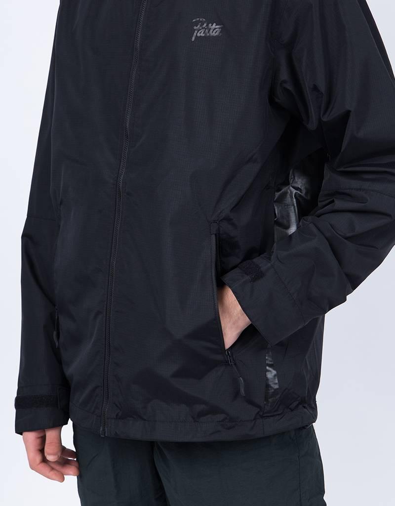 Patta Logo Rain Jacket Black