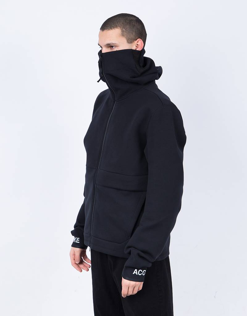 Nikelab acg fleece fz hoodie black/dark stucco