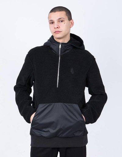 NikeLab Ess Tr Sherpa HZ Hoodie Black/Black