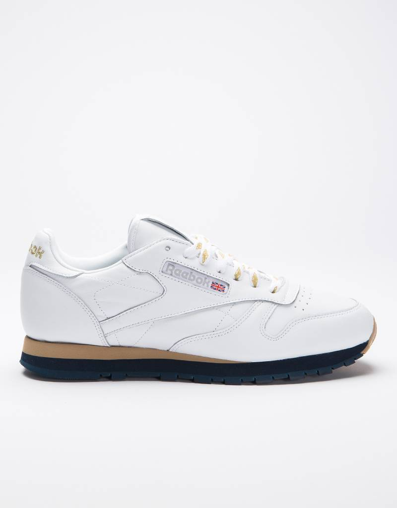 Reebok cl leather beams white/gold met/coll