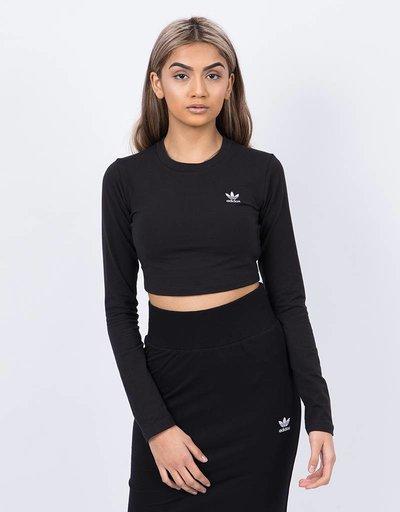 Adidas sc longsleeve crop black