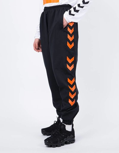 Hummel X 424 Track Pant Black Red Orange
