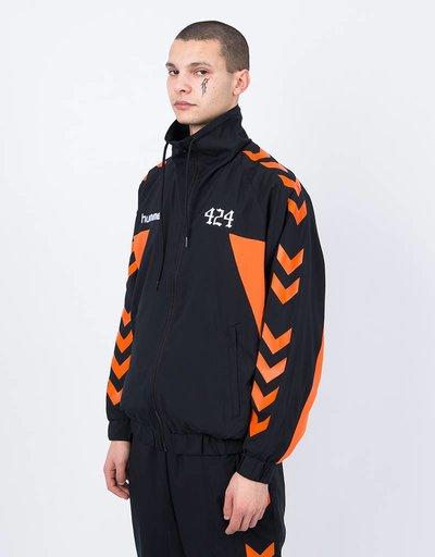Hummel X 424 Micro Track Zip Jacket Black Red Orange