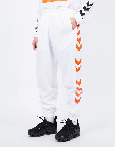 Hummel X 424 Track Pant White Red Orange