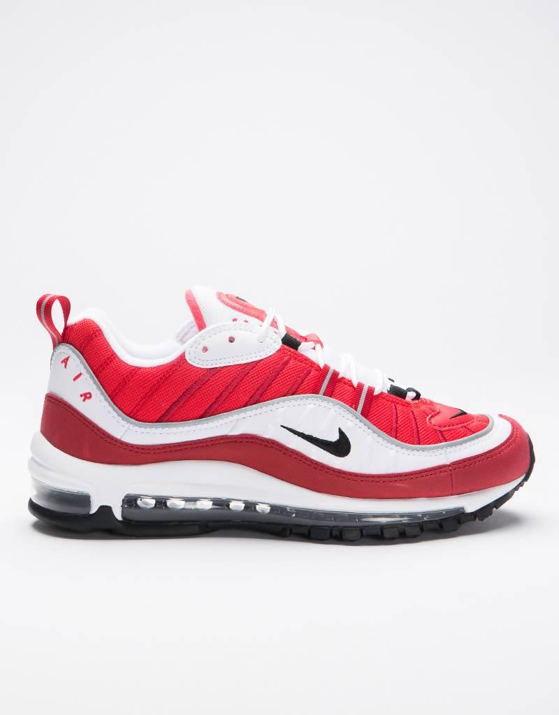 Nike women's air max 98 shoe white/black-gym red-reflect silver