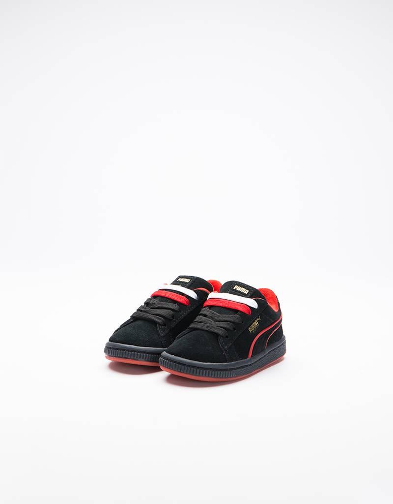 Puma Suede Classic X FUBU infant Black-High Risk Red Gold