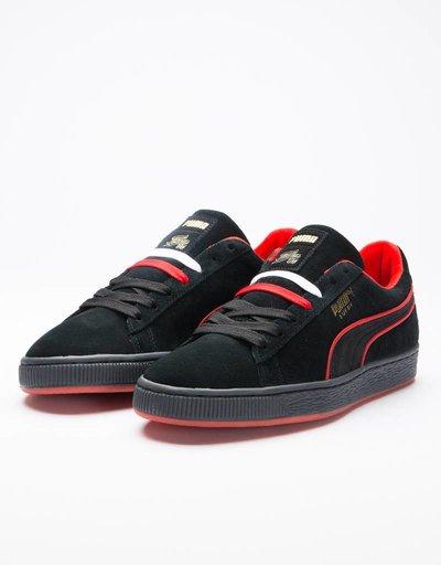 Puma Suede Classic X FUBU Black-High Risk Red