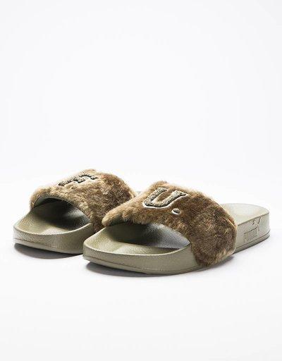 Puma Leadcat Fenty FU Fur Burnt Olive-Puma Black