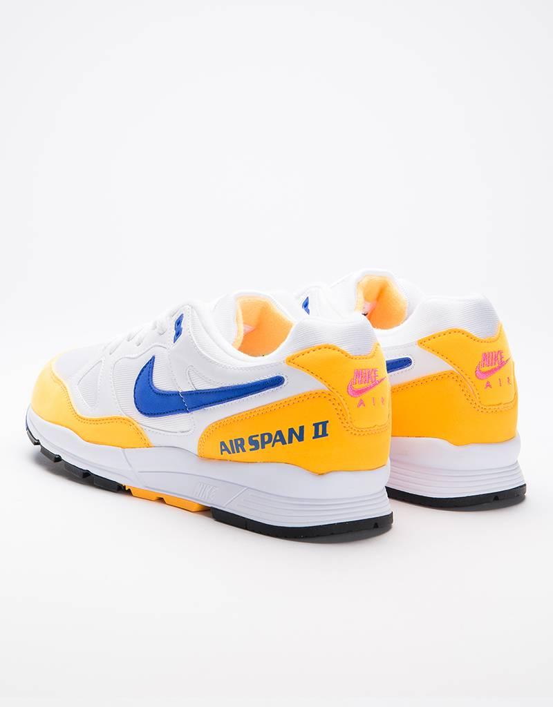 Nike air span ii shoe white/hyper royal-laser orange