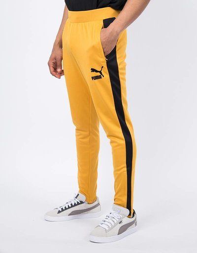 Puma T7 Vintage Track Pants / Mineral Yellow Black