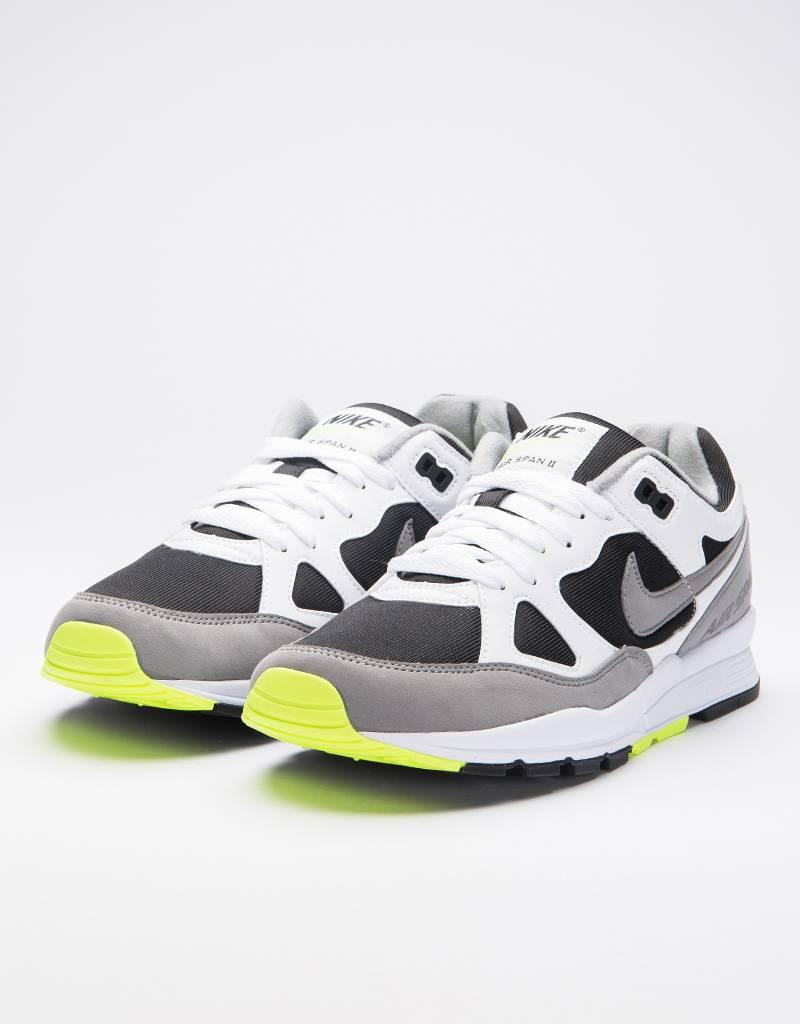 Nike air span ii shoe white/dust-volt-black