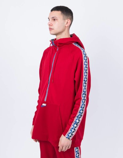 Nike taped Half-Zip Hoodie Gym Red/Sail