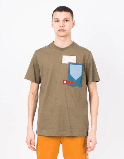 Tratlehner Thread Eel T-shirt Stone Grey Army