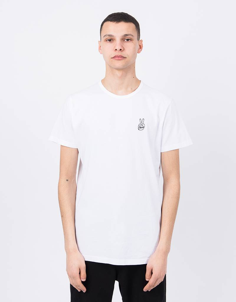 Ceizer Peace Embroidery T-Shirt White