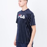 Fila Tux Velour Pin Stripe Tee Peacoat