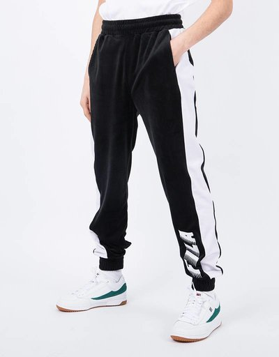 Fila Seth Velour Pant Black Light Grey