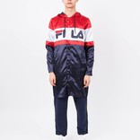 Fila Karis Long Line Jacket Peacoat Red White