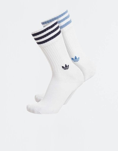 Adidas Solid Crew Socks 2PP Ashblue/Conavy