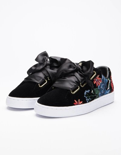 Puma Wmns Basket Heart Hyper Embroidery Black