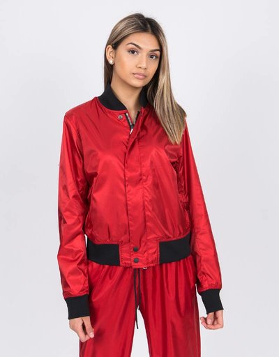 NikeLab Satin Bomber Jacket Gym Red/Black