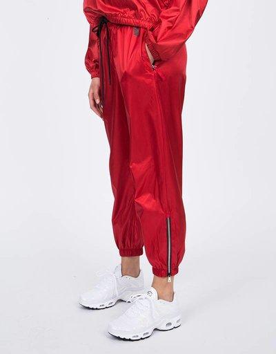 NikeLab NRG Satin Track pant Gym Red/Black