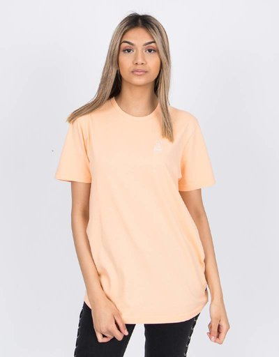 Ceizer Peace Embroidery T-Shirt Peach