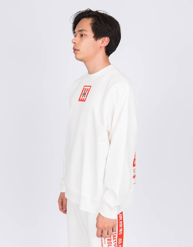 Alexander Wang X Adidas Graphic Crew core white/bold orange/black