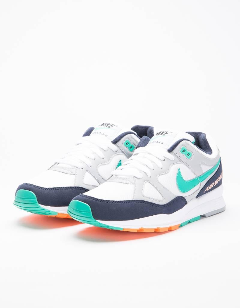 Nike Air Span II Shoe wolf grey/kinetic green-obsidian