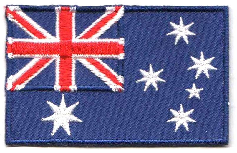 Flag patch australia backpackflags com for Star fabric australia