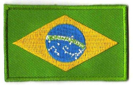 vlag patch Brazilië