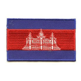 Flagge Patch Kambodscha