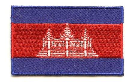 Flagge Patch Kambodscha