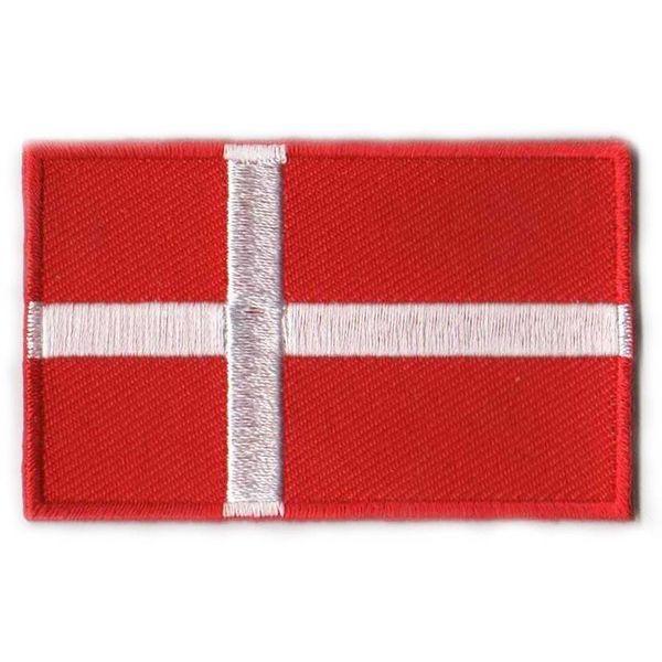 Dänischer Flaggenpatch