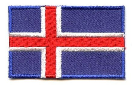 flag patch Iceland