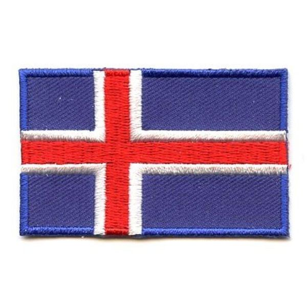BACKPACKFLAGS flag patch Iceland