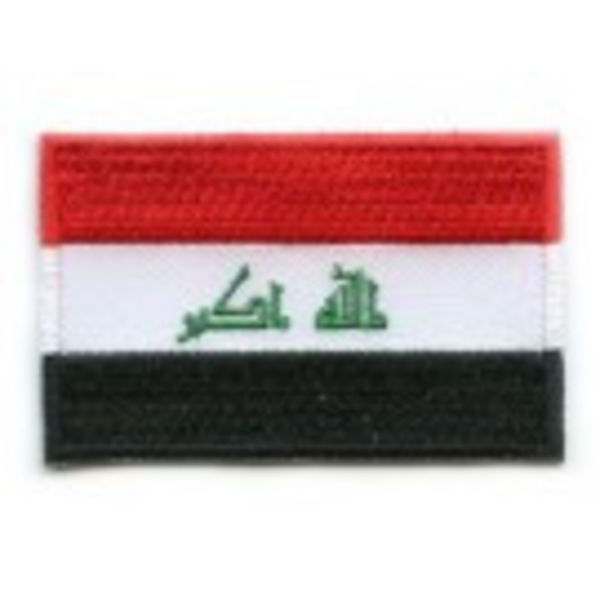 Irak Flagge Patch