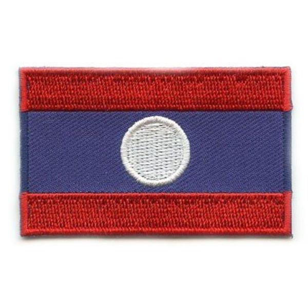 Laos-Flaggenflecken
