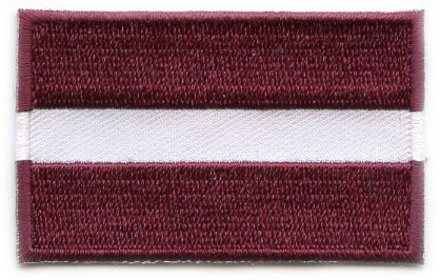 flag patch Latvia